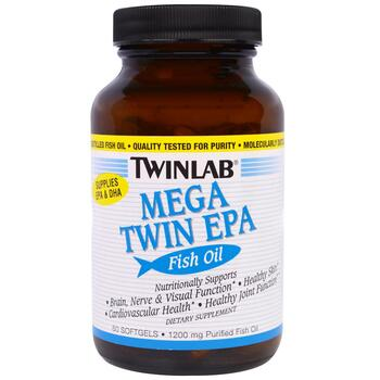 Купить Twinlab Mega Twin EPA Fish Oil 1200 mg 60 Softgels