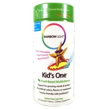 Купить Rainbow Light Kid's One MultiStars Food-Based Multivitamin Fru...