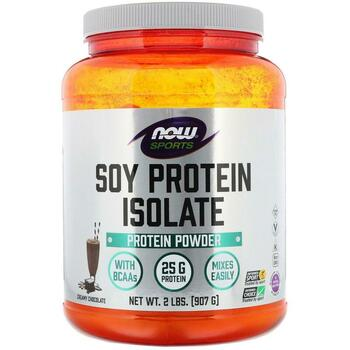 Купить Now Foods Sports Soy Protein Isolate Natural Chocolate 907 g