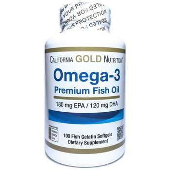 Купить Omega-3 Premium Fish Oil 180 mg EPA & 120 mg DHA 100 Softgels