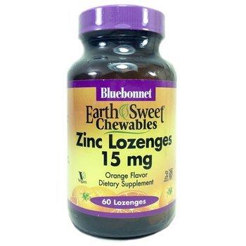 Купить EarthSweet Zinc Lozenges 15 mg 60 Lozenges (Льодяники з Цинком...