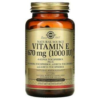 Купить Vitamin E 1000 IU 100 Veggie Softgels