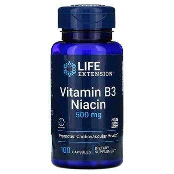 Купить Life Extension Vitamin B3 Niacin 500 mg 100 Capsules