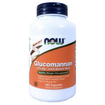 Купить Now Foods Glucomannan 575 mg 180 Capsules