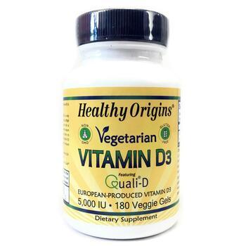 Купить Vegetarian Vitamin D3 5000 IU 180 Veggie Gels ( Vegetarian Vit...