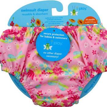 Купить Swimsuit Diaper Reusable & Absorbent 24 Months Light Pink Drag...