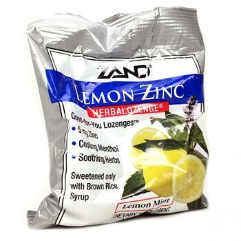 Купить Zand Lemon Zinc Herbalozenge Natural Lemon Flavor 15 Lozenges