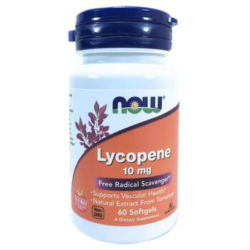 Купить Now Foods Lycopene 10 mg 60 Softgels