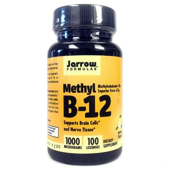 Купить Jarrow Formulas Methyl B-12 Lemon Flavor 1000 mcg 100 Lozenges