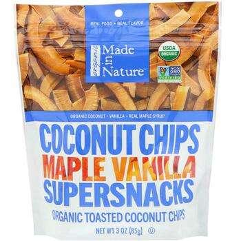 Купить Organic Toasted Coconut Chips Maple Madagascar Vanilla 85 g (М...
