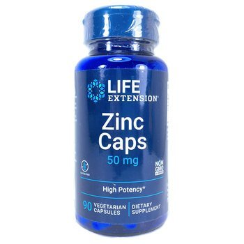 Купить Life Extension Zinc Caps High Potency 50 mg 90 Vegetarian Caps...