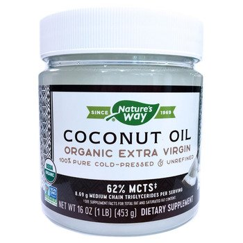 Купить Nature's Way Organic Coconut Oil Extra Virgin 448 g