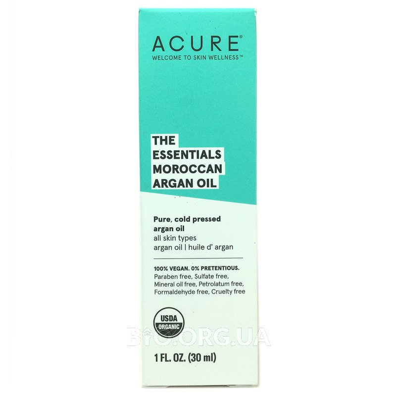 Марокканское Аргановое масло для всех типов кожи 30 мл фото товара