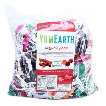 Купить Organic Pops Assorted Fruits Flavor 300 Pops 2268 g (Юм Еарс О...