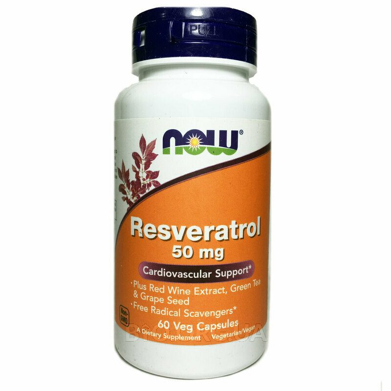Now Foods Natural Resveratrol 60 Veggie Caps