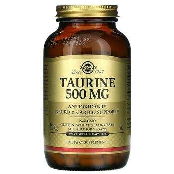 Купить Taurine 500 mg 250 Veggie Caps ( Таурин 500 мг 250 капсул)