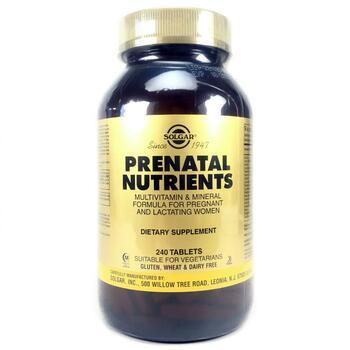 Купить Solgar Prenatal Nutrients Multivitamin & Mineral 240 Tabs