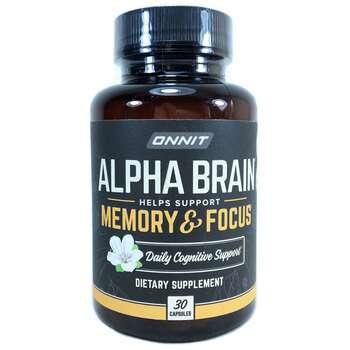 Купить Onnit Alpha Brain Memory & Focus 30 Capsules
