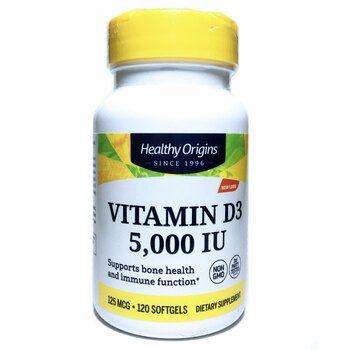 Купить Vitamin D3 5000 IU 120 Softgels