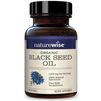 Купить NatureWise Organic Black Seed Oil 1250 mg 60 SoftGels (NatureW...