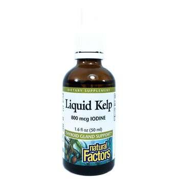 Купить Natural Factors Liquid Kelp 800 mcg Iodine 50 ml