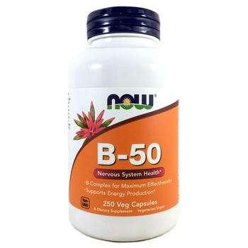 Купить Now Foods B-50 Complex 250 Capsules