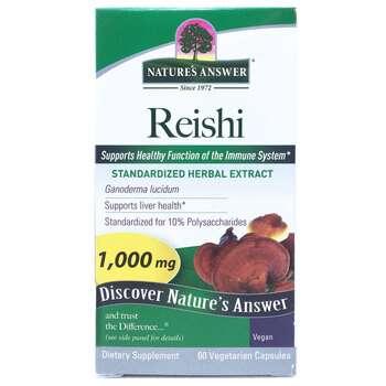 Купить Nature's Answer Reishi Standardized Herbal Extract 1000 mg 60 ...