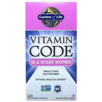 Купить Garden of Life Vitamin Code 50 & Wiser Women 120 Veg Caps