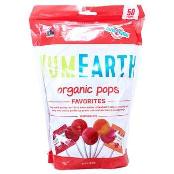 Купить Organic Pops Assorted Flavors 50 Pops 310 g (Органічні льодяни...