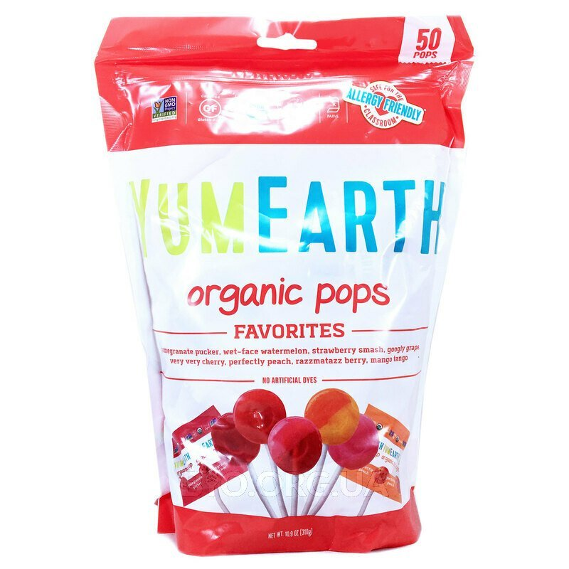 YumEarth Organic Pops Assorted Flavors 50 Pops 310 g
