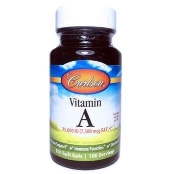 Купить Carlson Labs Vitamin A 25000 IU 100 Soft Gels