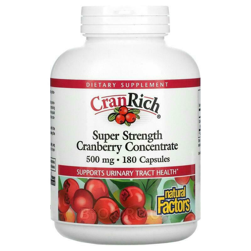 CranRich Super Strength Клюква Concentrate 500 мг 180 капсул фото товара