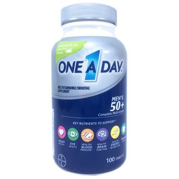 Купить One-A-Day Men's 50+ Multivitamin & Multimineral Supplement 100...