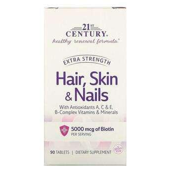 Купить Hair Skin Nails Extra Strength 90 Tablets