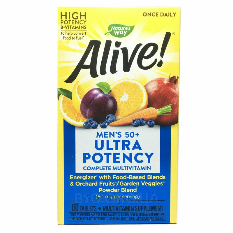 Nature's Way Alive Once Daily Mens 50 Multi Vitamin 60 Tablets