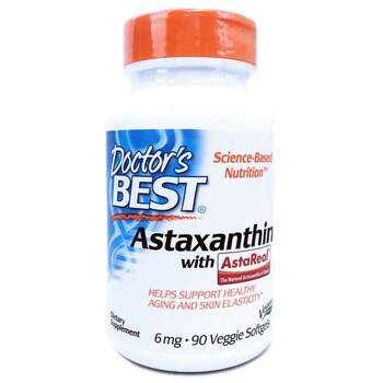Купить Astaxanthin with AstaReal 6 mg 90 Veggie Softgels (Астаксантин...