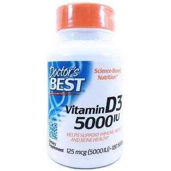 Купить Vitamin D3 125 mcg 5000 IU 180 Softgels