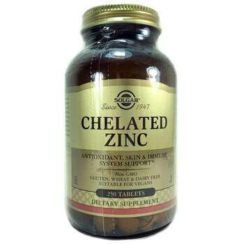 Купить Solgar Chelated Zinc 22 mg 250 Tablets