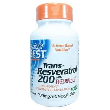 Купить Doctor's Best Trans-Resveratrol 200 with Resvinol 200 mg 60 Ve...