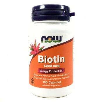 Купить Now Foods Biotin 1000 mcg 100 Capsules