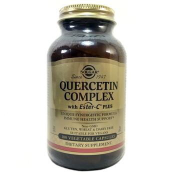Купить Solgar Quercetin Complex with Ester-C Plus 100 Vegetable Capsules