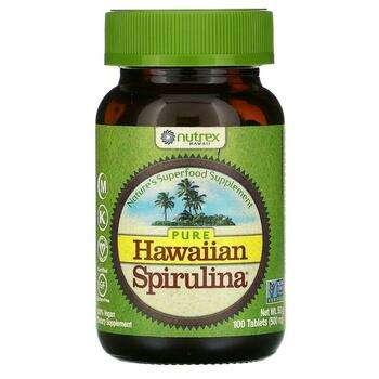 Купить Nutrex Hawaii Pure Hawaiian Spirulina 500 mg 100 Tablets