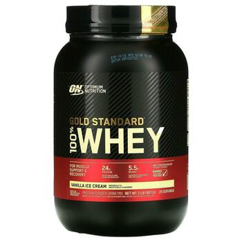 Купить Optimum Nutrition Gold Standard 100% Whey Vanilla Ice Cream  9...