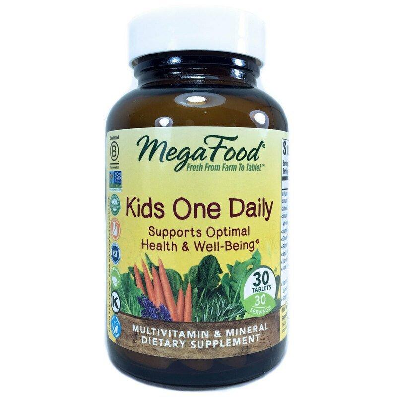 Мега Фуд детские мультивитамины одна в день 30 таблеток фото товара
