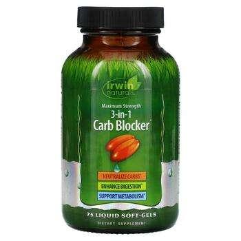 Купить Irwin Naturals 3-In-1 Carb Blocker Maximum Strength 75 Liquid ...