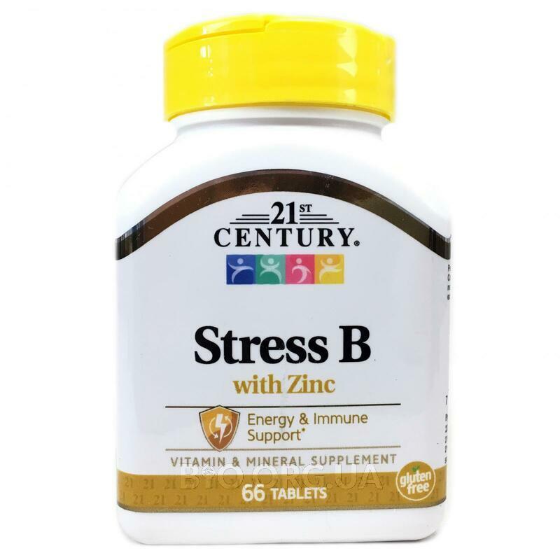 21 век Стресс формула группы В с Цинком 66 таблеток фото товара
