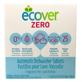 Купить Ecover Zero Automatic Dishwasher Tablets Fragrance Free 25 Tab...