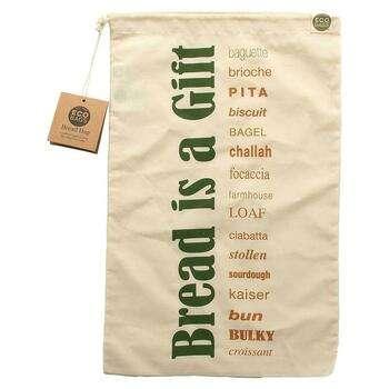 Купить Certified Organic Cotton Printed Reusable Bread Bag 1 Bag 11.5