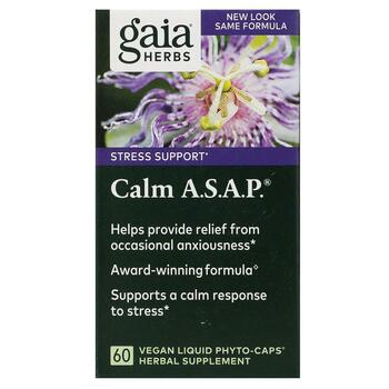Купить Calm A.S.A.P. 60 Vegan Liquid Phyto-Caps ( Calm A.S.A.P. 60 Ve...