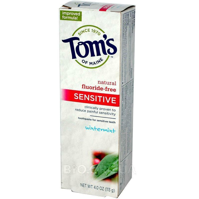 Томс Зубная паста для чувствительных зубов без фтора морозная ... фото товара